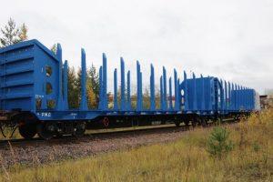 UWC timber flat cars
