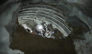 Cortanovci rail tunnel excavation