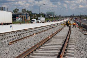 Construction works for Montreal REM