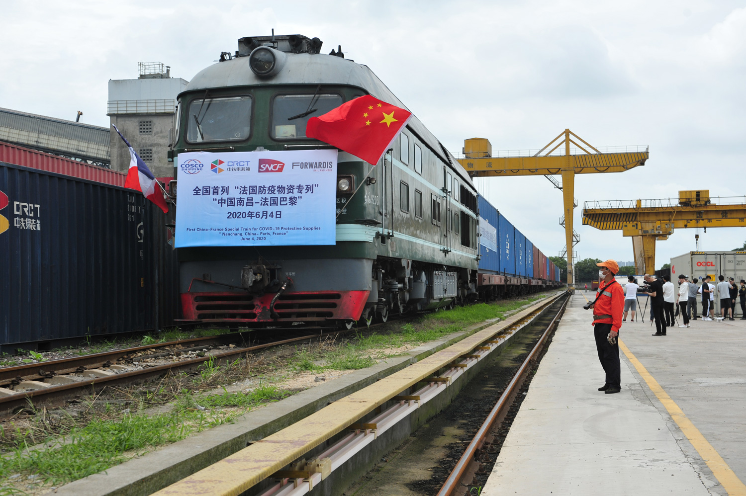 New China-Europe train service launched with Paris as the final ...