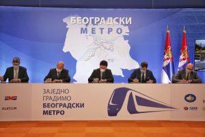 Belgrade first metro line