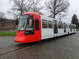 Flexity high-floor light rail vehicles