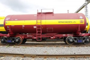 sulphuric acid tank car