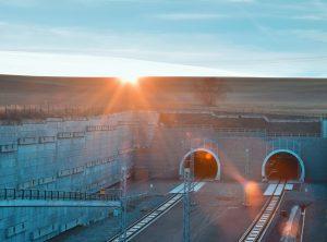 Krusnohorsky rail tunnel