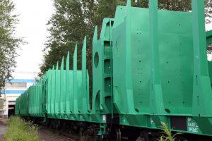 timber flat car fleet