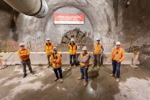 four tunnel boring machines