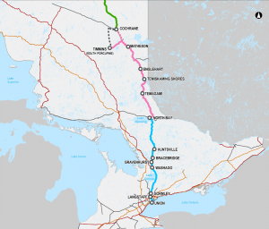 Northeastern rail passenger