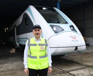 Turkish-made electric train