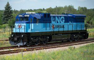 LNG freight locomotive