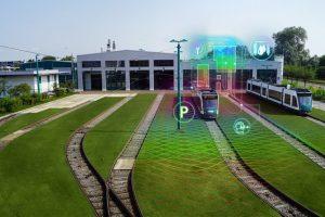 Autonomous Tram in Depot