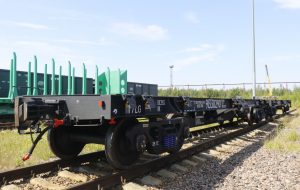 new container flat car