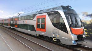 Double-deck intercity railcars